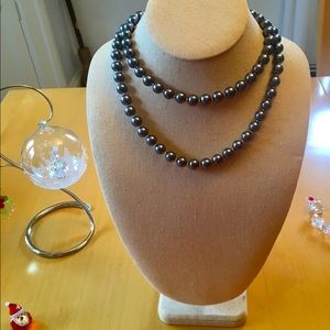 Franklin Mint Shakira Black Pearl necklace.